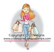 C.C.Designs Gummistempel, shopping Erica. eneste tilgængelige!