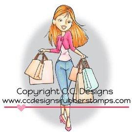 C.C.Designs sello de goma, Erica compras. único disponible!