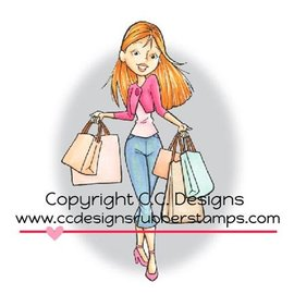 C.C.Designs Rubber stamp, Shopping Erica. Only 1 in stock!