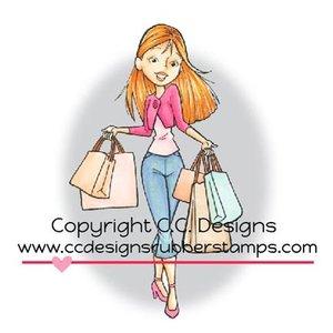 C.C.Designs Gummi Stempel, Shopping Erica. nur noch 1 vorrätig!