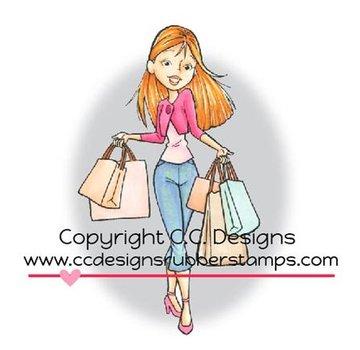 C.C.Designs Rubber zegel, winkelen Erica. slechts één beschikbaar!
