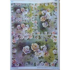 DECOUPAGE AND ACCESSOIRES carta decoupage disegno del fiore