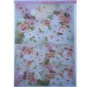 DECOUPAGE AND ACCESSOIRES Decoupage papieren rozen Ontwerp