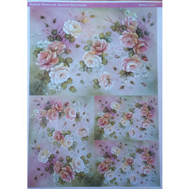 DECOUPAGE AND ACCESSOIRES Decoupage rose di carta di design