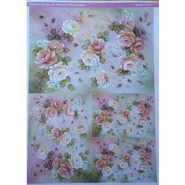 DECOUPAGE AND ACCESSOIRES Decoupage roses en papier design