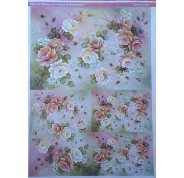 DECOUPAGE AND ACCESSOIRES Decoupage rose di carta di design