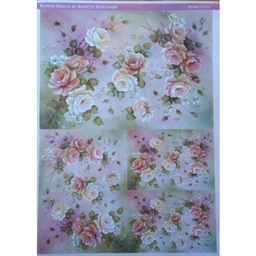 DECOUPAGE AND ACCESSOIRES Decoupage paper roses Design