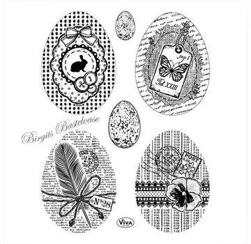 VIVA DEKOR (MY PAPERWORLD) Transparent stamp: Vintage eggs