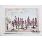 Marianne Design Transparent stamp: Tiny's border, foxgloves
