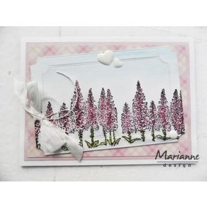 Marianne Design Transparent stamp: Tiny's border, foxgloves
