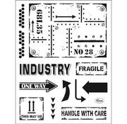 VIVA DEKOR (MY PAPERWORLD) Transparent stempel: Industriel stil