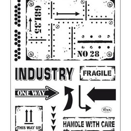 VIVA DEKOR (MY PAPERWORLD) Transparent Stempel: Industrial Style