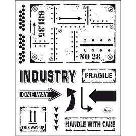 VIVA DEKOR (MY PAPERWORLD) timbre transparent: style industriel