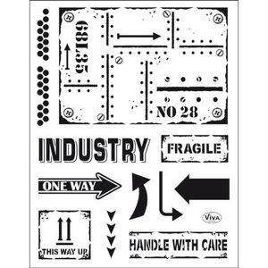 VIVA DEKOR (MY PAPERWORLD) Transparent stamp: Industrial Style