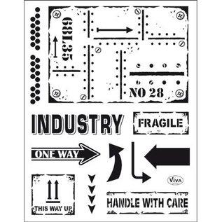 VIVA DEKOR (MY PAPERWORLD) Transparant stempel: industriële stijl