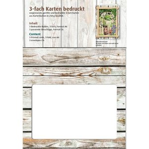 KARTEN und Zubehör / Cards Passepartout cartes Vintage, mur en bois
