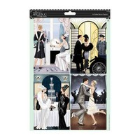 2 Die cut sheets with silver effect