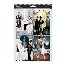 Bilder, 3D Bilder und ausgestanzte Teile usw... 2 Die cut sheets with silver effect