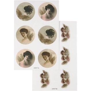 Embellishments / Verzierungen Sticker mit nostalgischen Bilder