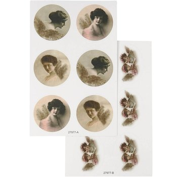 Embellishments / Verzierungen Sticker with nostalgic images