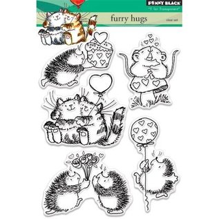 Penny Black Transparante Postzegels: leuke kat, muizen en egels