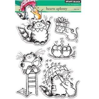 Penny Black Transparent Stempel: niedliche Katze, Mäuse und Eule
