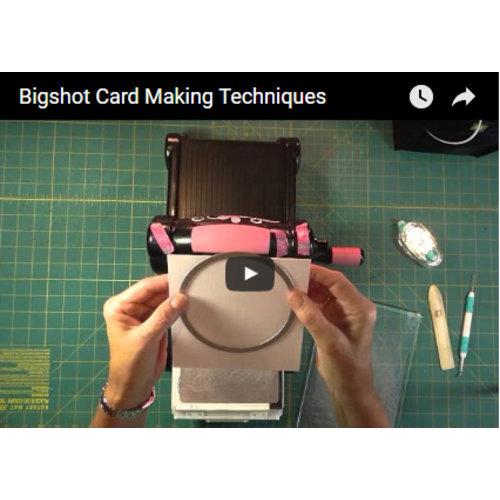 diverse Techniken: Karten mit Schablonen