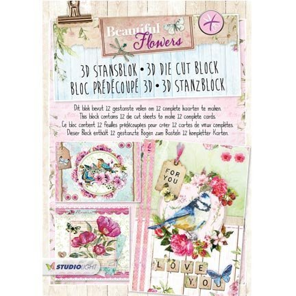 PRE-CUT BLOCK for cards, scrapbooking and more!