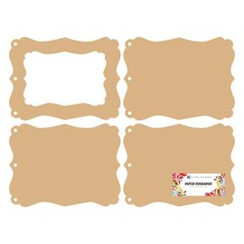Objekten zum Dekorieren / objects for decorating Dutch DooBaDoo: MDF mini album photo frame