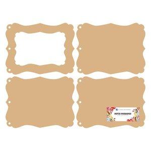 Objekten zum Dekorieren / objects for decorating DooBaDoo Néerlandais: MDF mini album photo frame
