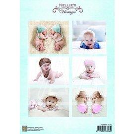 BILDER / PICTURES: Studio Light, Staf Wesenbeek, Willem Haenraets 1 Bilderbogen A4: Vintage Baby und Zwillinge