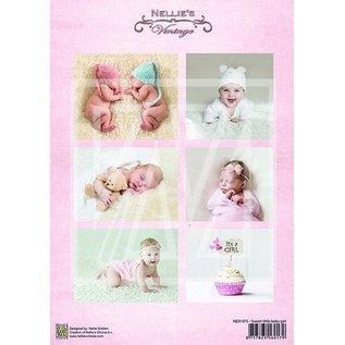 Bilder, 3D Bilder und ausgestanzte Teile usw... 1 Bilderbogen A4: baby lief meisje