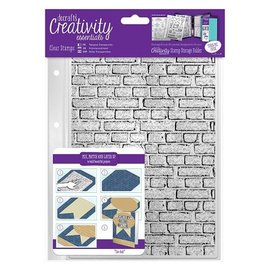 Docrafts / Papermania / Urban timbres Transparent A5: Pierres mur