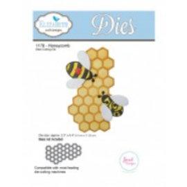 Elisabeth Craft Dies , By Lene, Lawn Fawn Stempling og preging mal: 1 Honeycomb