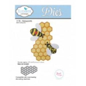 Elisabeth Craft Dies , By Lene, Lawn Fawn Stempling og prægning skabelon: 1 Honeycomb