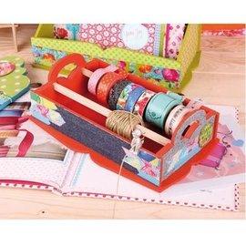 Objekten zum Dekorieren / objects for decorating boîte en bois pour le stockage des rubans décoratifs
