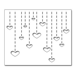 "Penny Black Cutting meurt: ""Heart Drops"" Heart Dropfen"