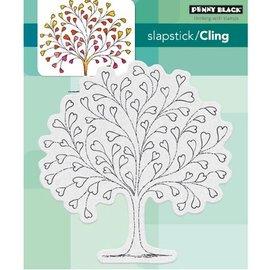Penny Black Sello de goma: árbol del corazón