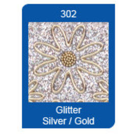 STICKER / AUTOCOLLANT Micro-Glitter-Sticker, Linien, silber/gold