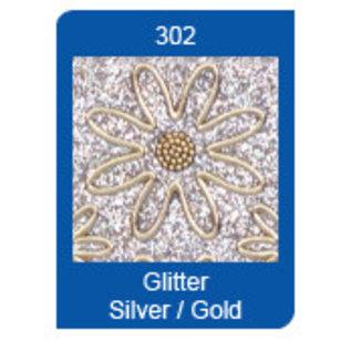 STICKER / AUTOCOLLANT Micro Glitter Stickers, lijnen, zilver / goud