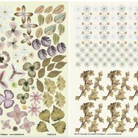 BLUMEN (MINI) UND ACCESOIRES Twin Pack flowerart, bruin