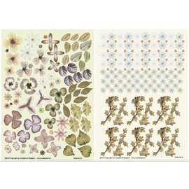 BLUMEN (MINI) UND ACCESOIRES Twin Pack flowerart, brown