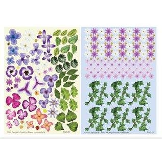 BLUMEN (MINI) UND ACCESOIRES Twin Pack flowerart paars,