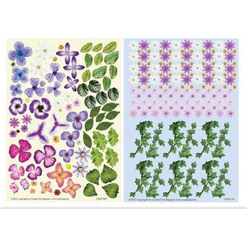 BLUMEN (MINI) UND ACCESOIRES Twin Pack flowerart violet,
