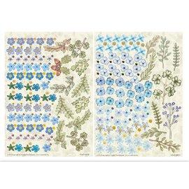 BLUMEN (MINI) UND ACCESOIRES Twin Pack flowerart, azul, pequeña