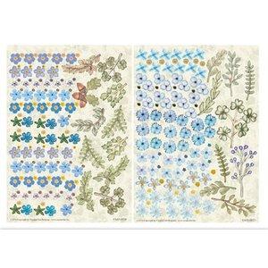 BLUMEN (MINI) UND ACCESOIRES Twin Pack flowerart, bleu, petit