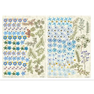 BLUMEN (MINI) UND ACCESOIRES Twinpack FlowerArt, blau, klein