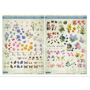 Bilder, 3D Bilder und ausgestanzte Teile usw... 3D Stanzbogenset, flowers