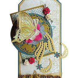 Marianne Design Coupe et Gaufrage Modèle + timbres: papillons