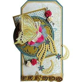 Marianne Design Plantilla de corte y estampado + sellos: mariposas